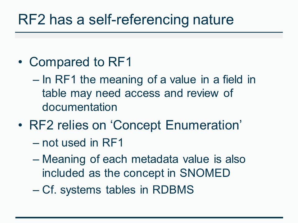 RF2 has a self-referencing nature