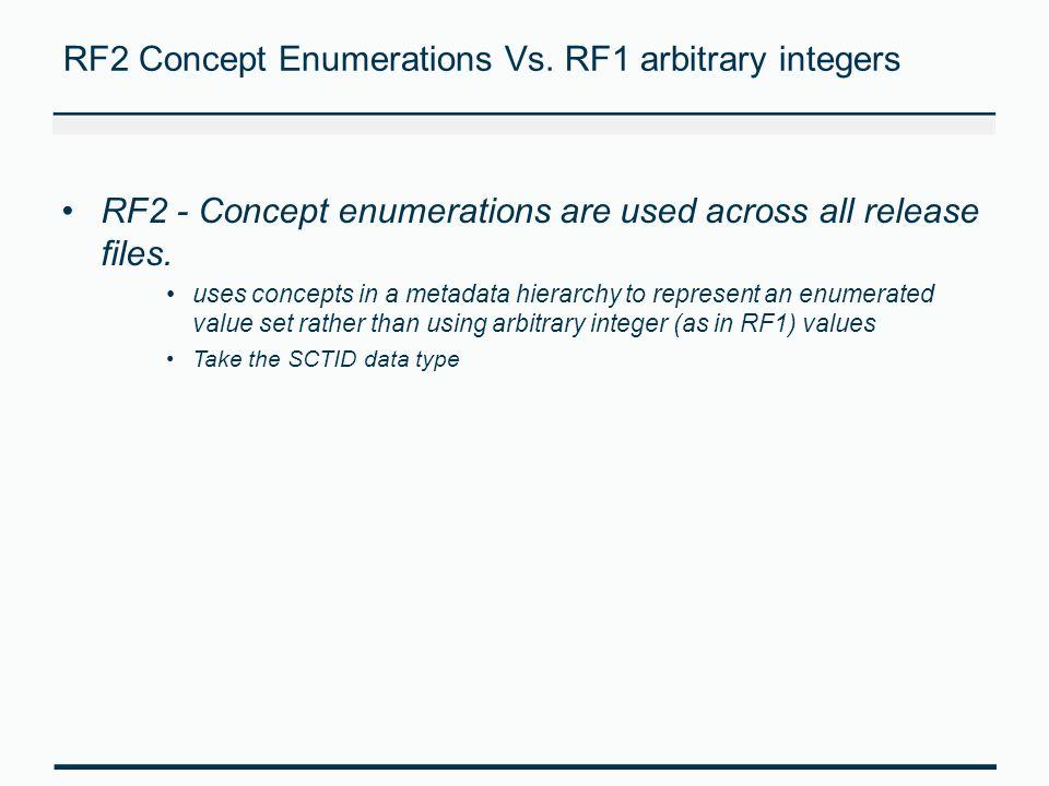 RF2 Concept Enumerations Vs. RF1 arbitrary integers