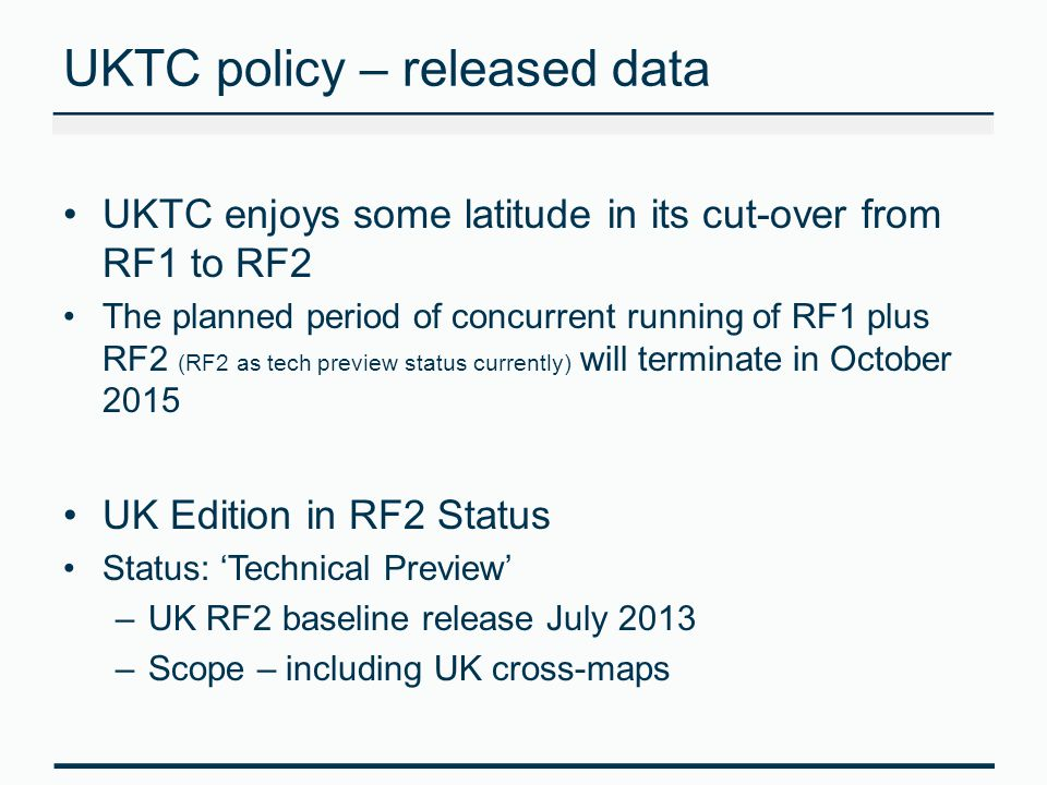 UKTC policy – released data