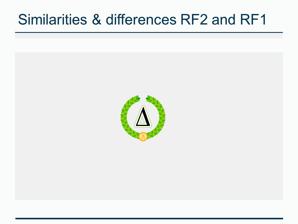 Similarities & differences RF2 and RF1