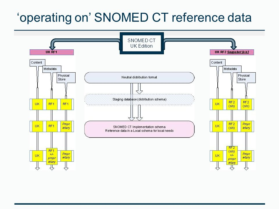 'operating on' SNOMED CT reference data