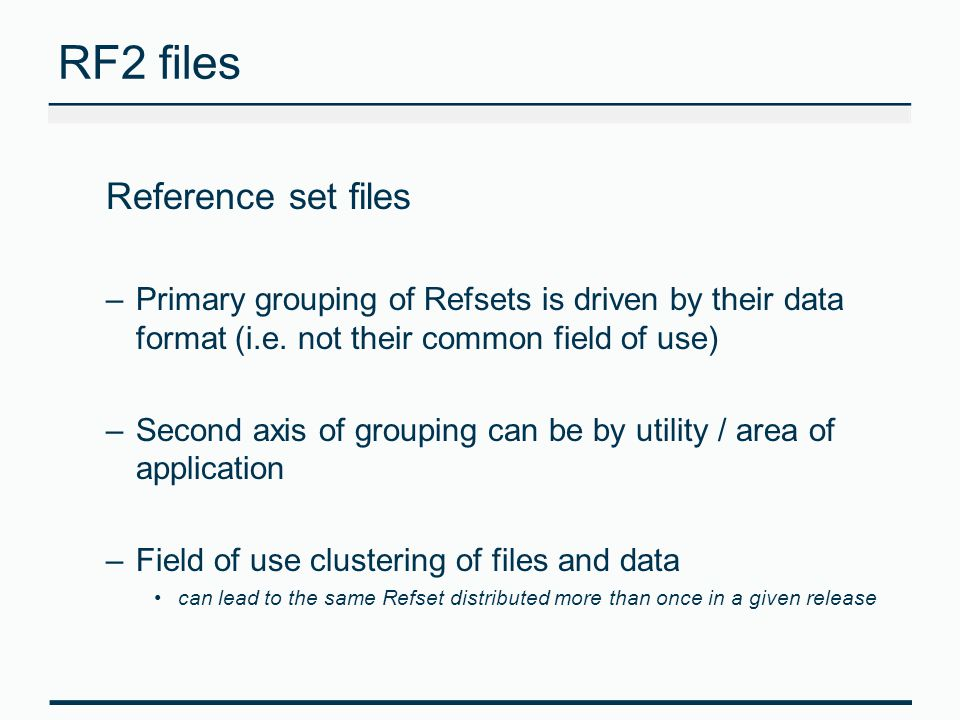 RF2 files Reference set files
