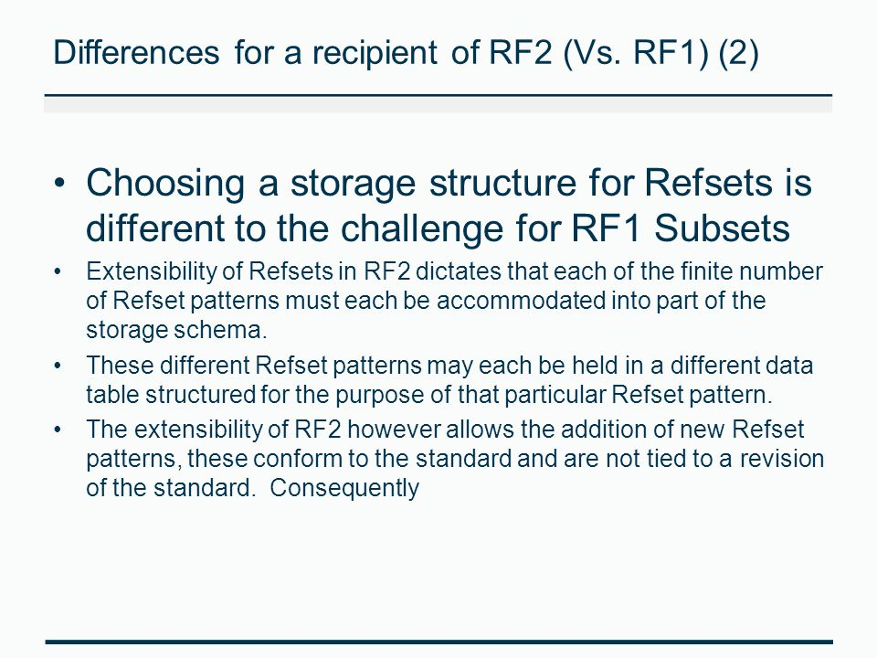 Differences for a recipient of RF2 (Vs. RF1) (2)