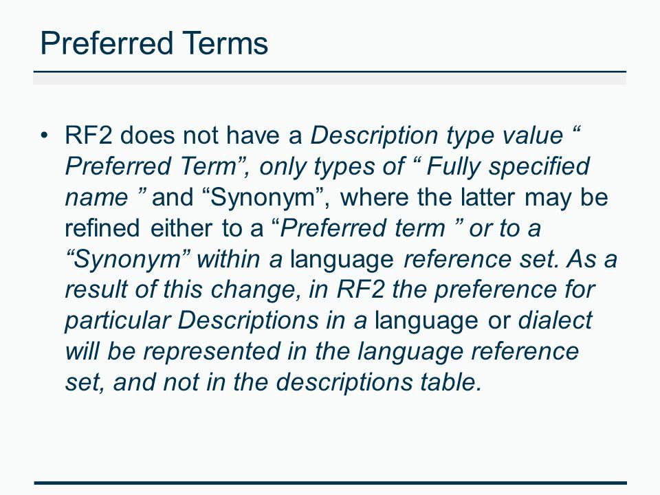 Preferred Terms