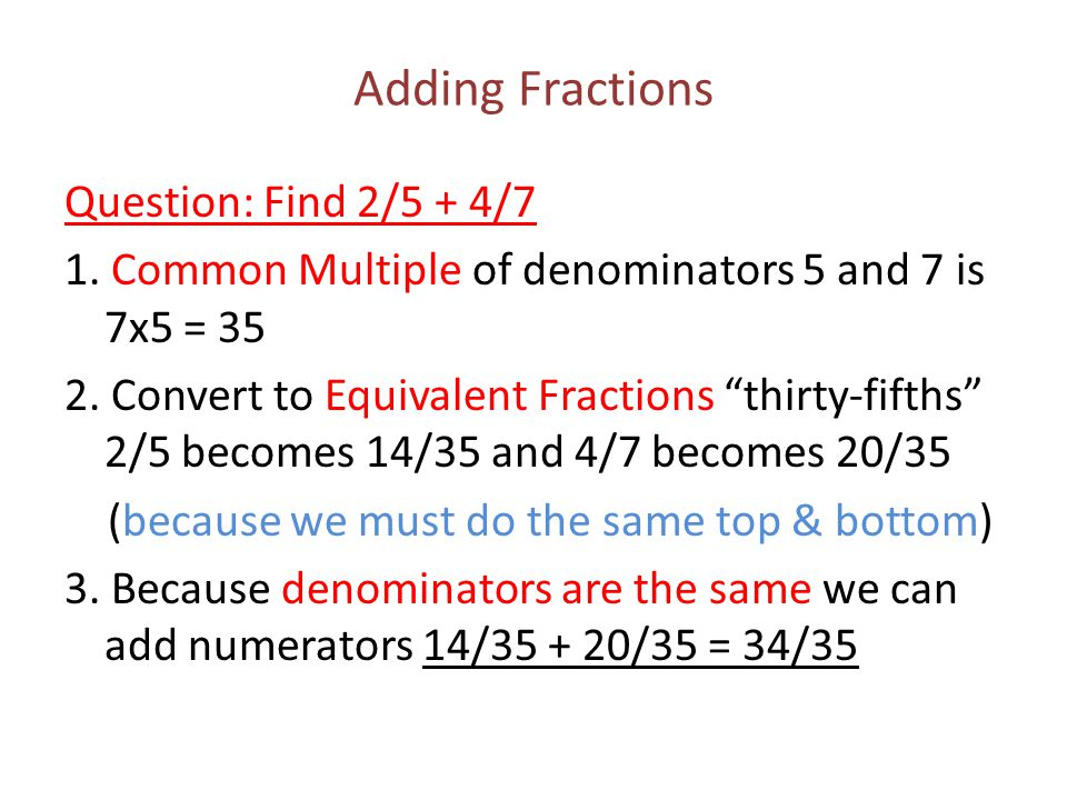how to add same fractions quickly