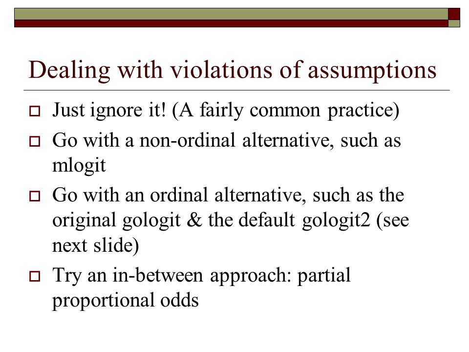 Dealing with violations of assumptions