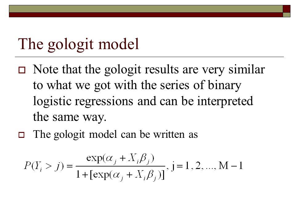 The gologit model