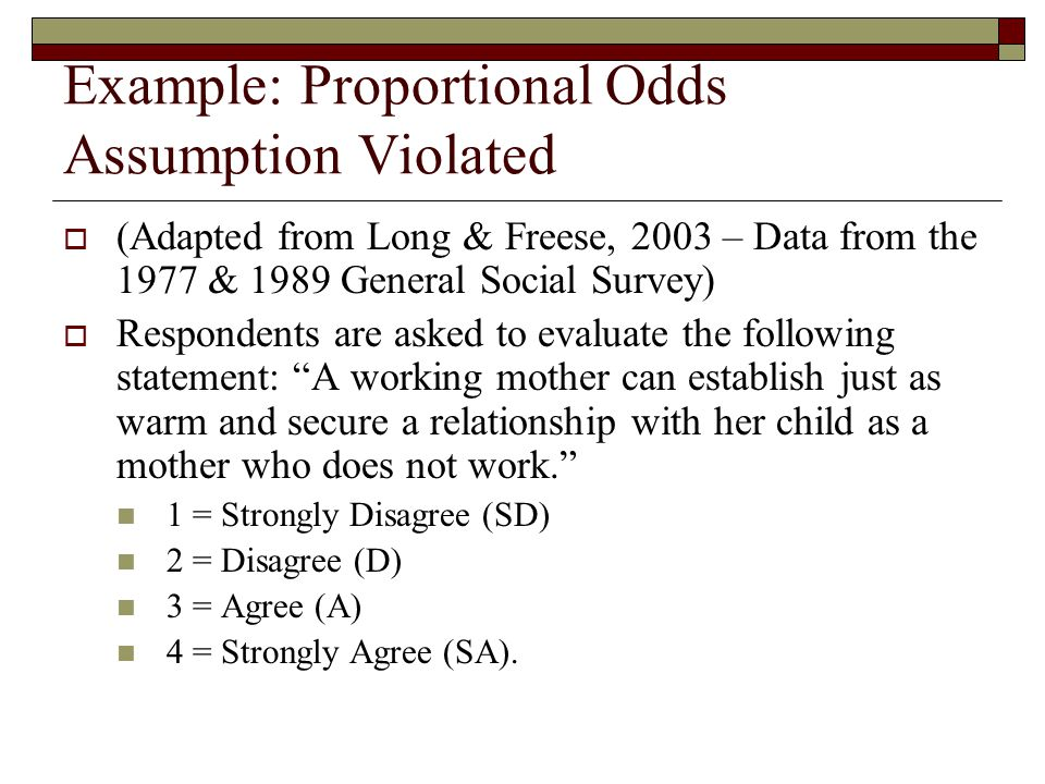 Example: Proportional Odds Assumption Violated