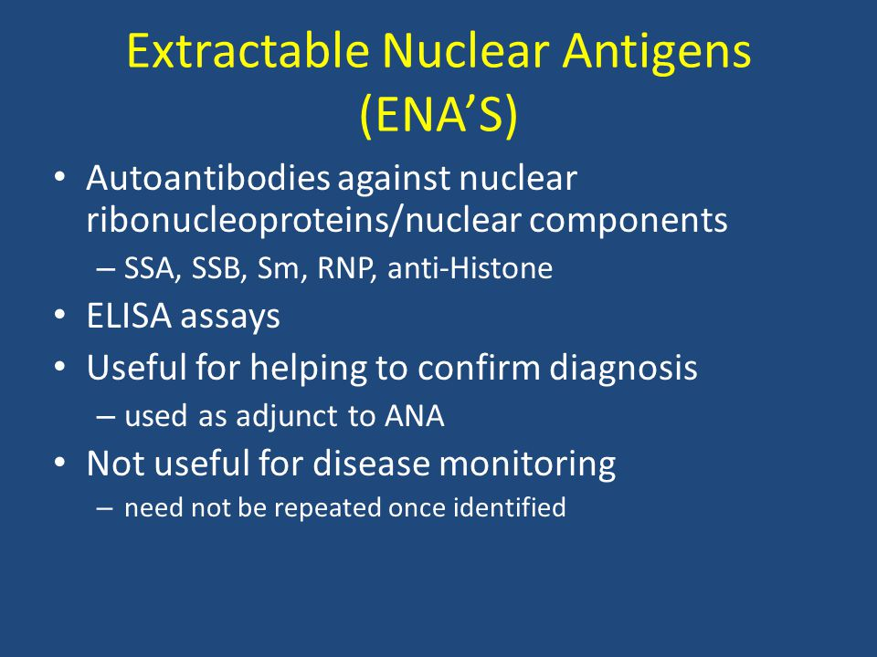 Extractable Nuclear Antigens (ENA'S)