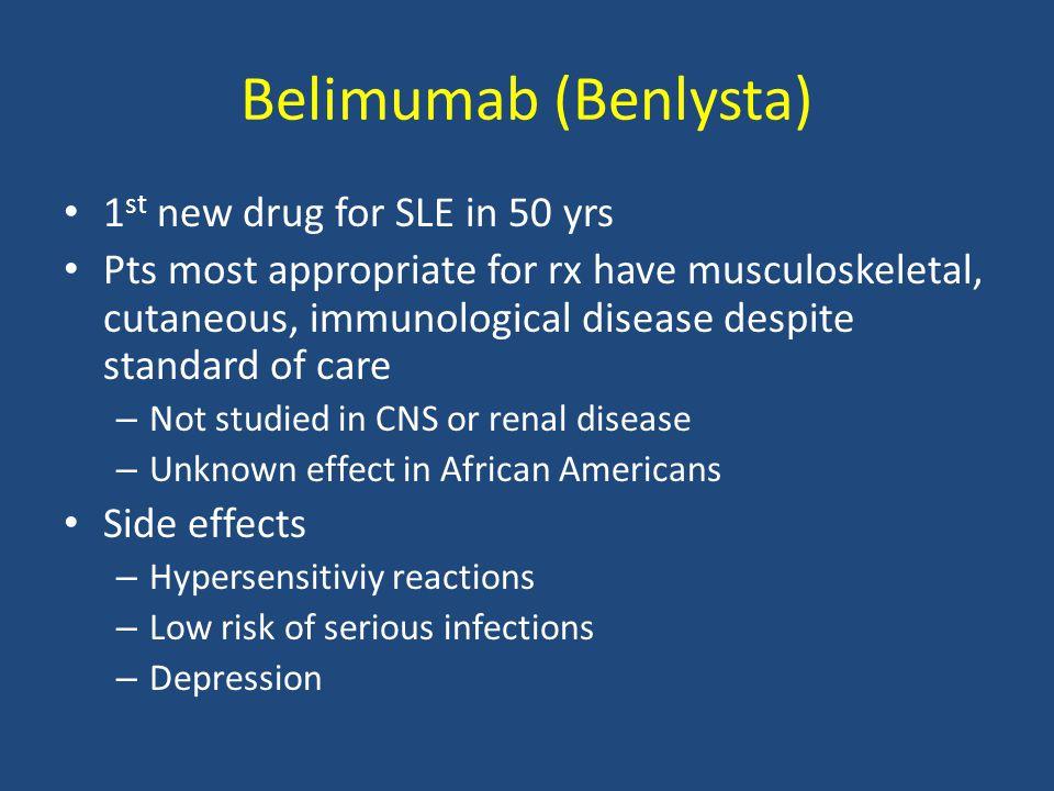 Belimumab (Benlysta) 1st new drug for SLE in 50 yrs
