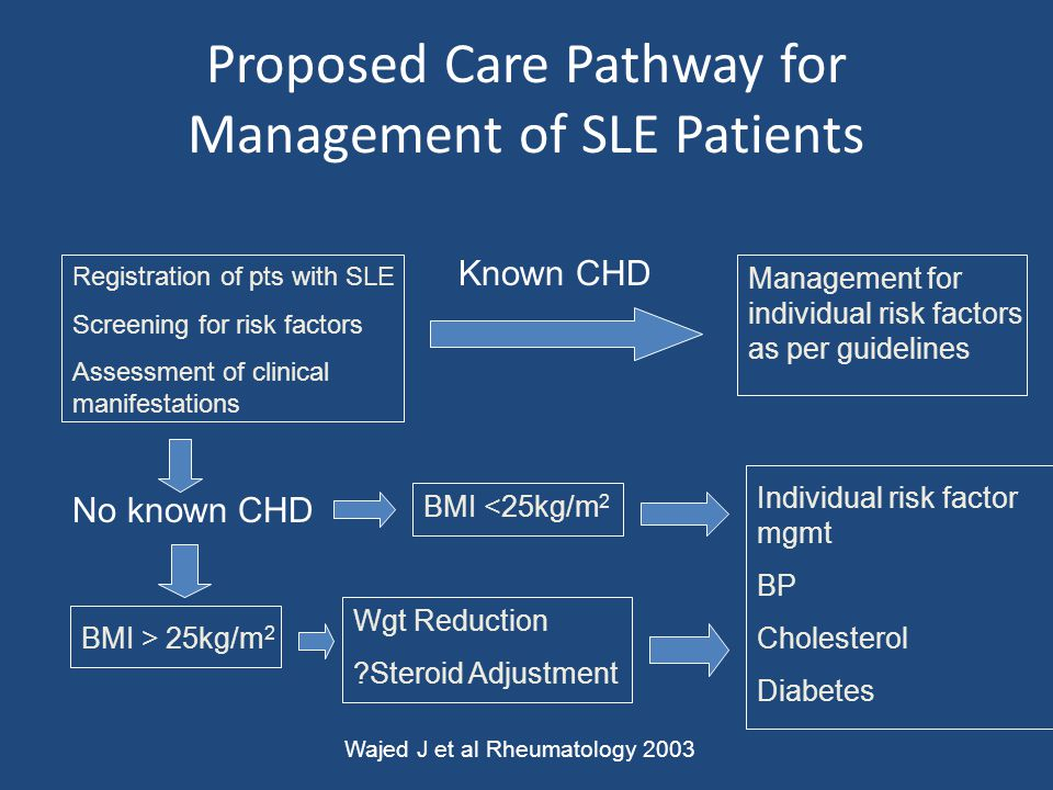 Proposed Care Pathway for Management of SLE Patients