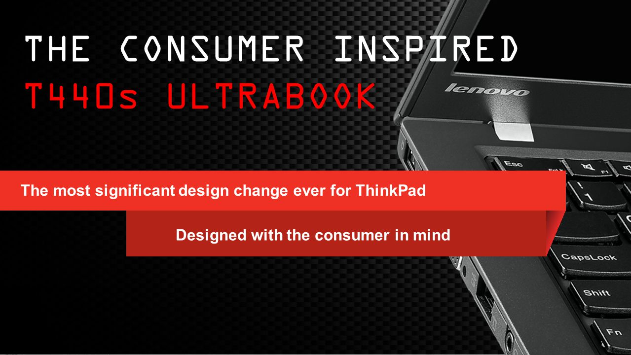 The CONSUMER INSPIRED T440s ULTRABOOK