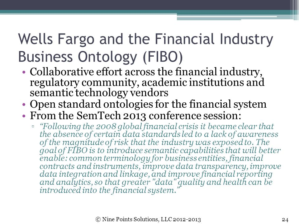 Wells Fargo and the Financial Industry Business Ontology (FIBO)