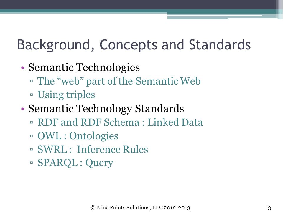 Background, Concepts and Standards