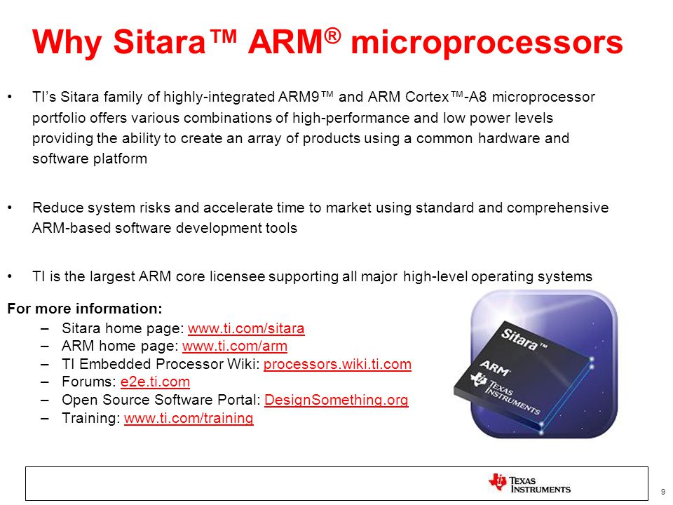 Why Sitara™ ARM® microprocessors