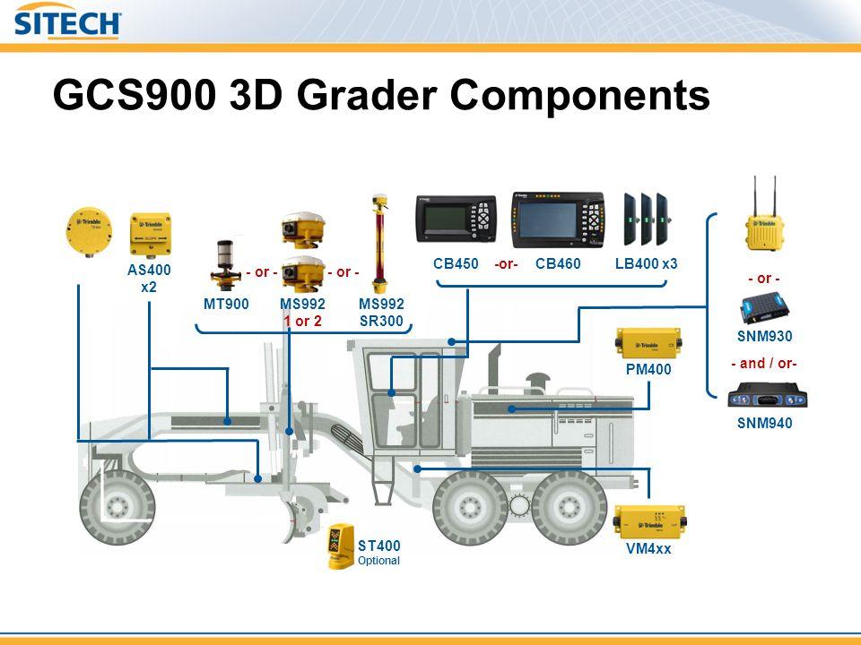 GCS900 3D Grader Components