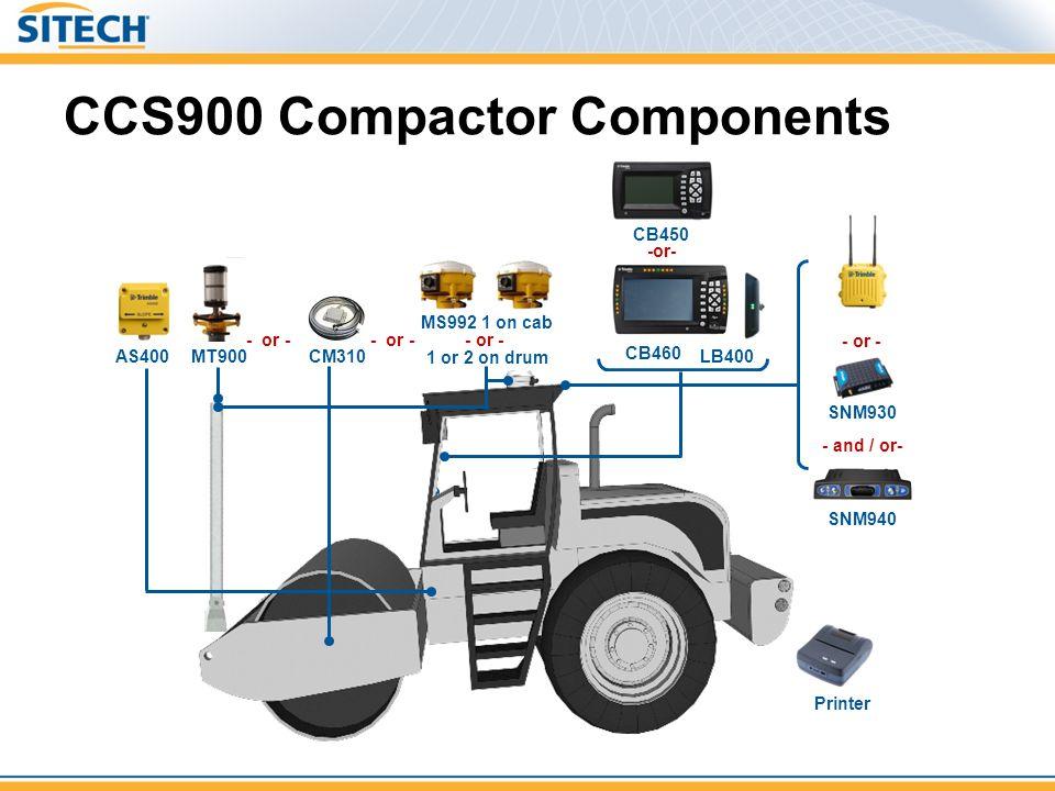 CCS900 Compactor Components