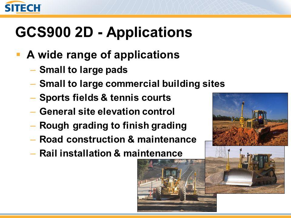 GCS900 2D - Applications A wide range of applications