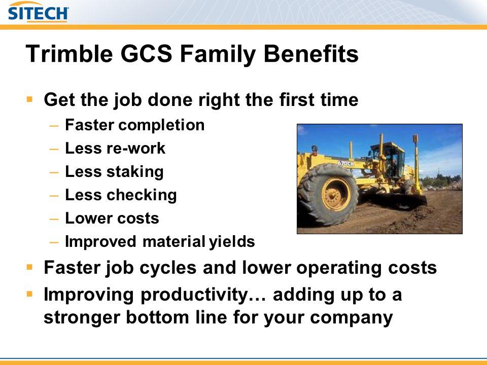 Trimble GCS Family Benefits