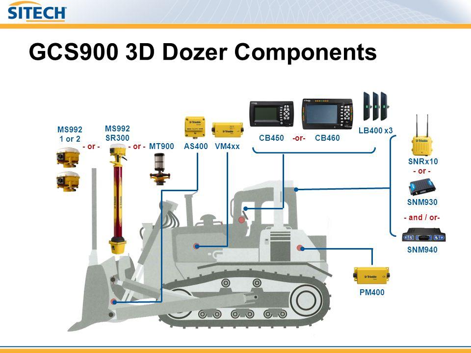 GCS900 3D Dozer Components MS992 1 or 2 MS992 SR300 LB400 x3 CB450