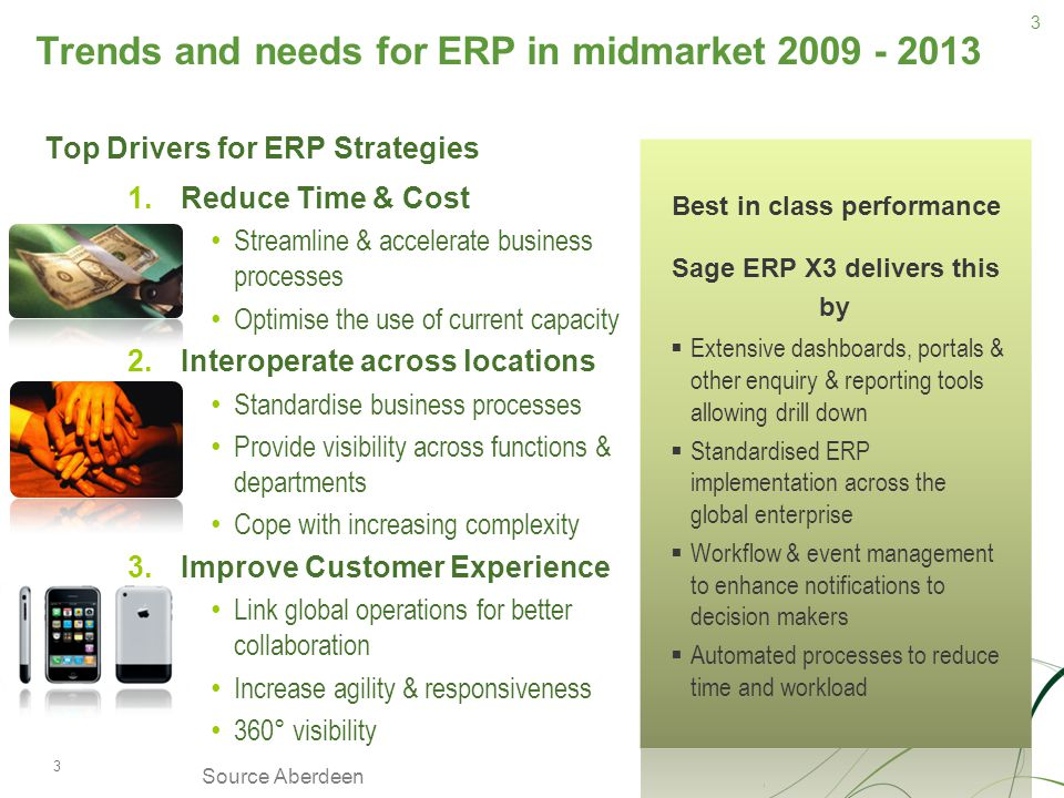 Trends and needs for ERP in midmarket 2009 - 2013