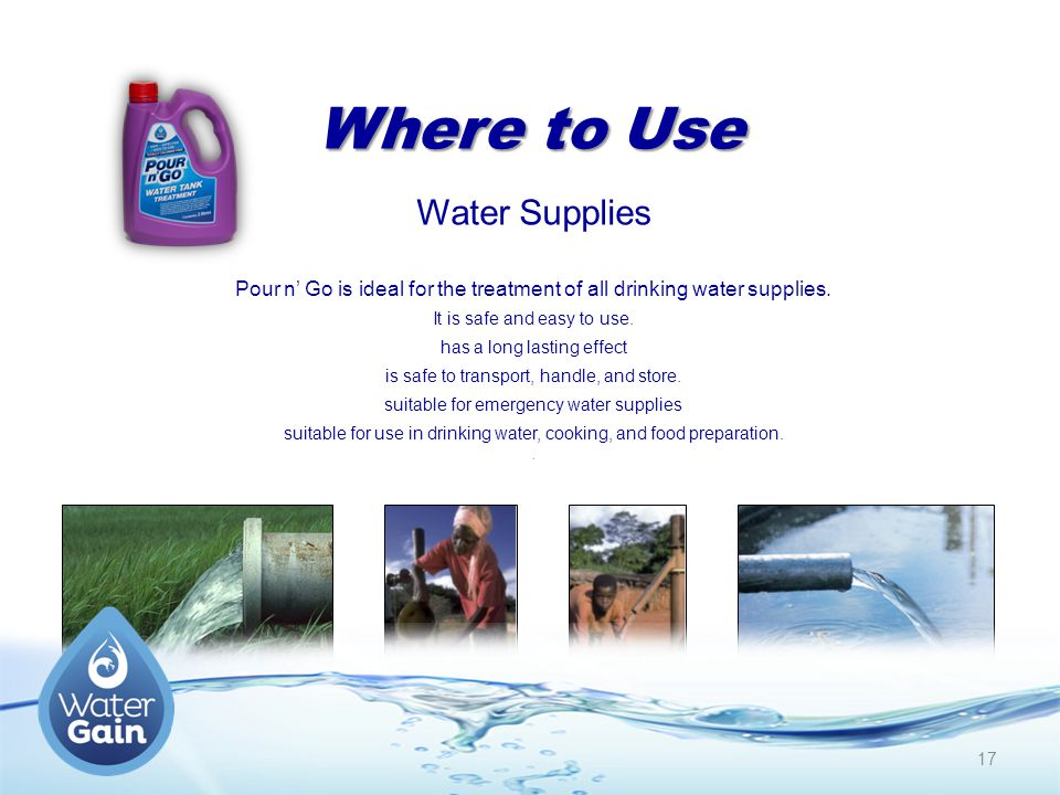 Where to Use Water Supplies