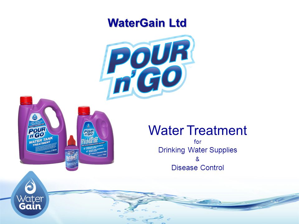 Water Treatment for Drinking Water Supplies & Disease Control