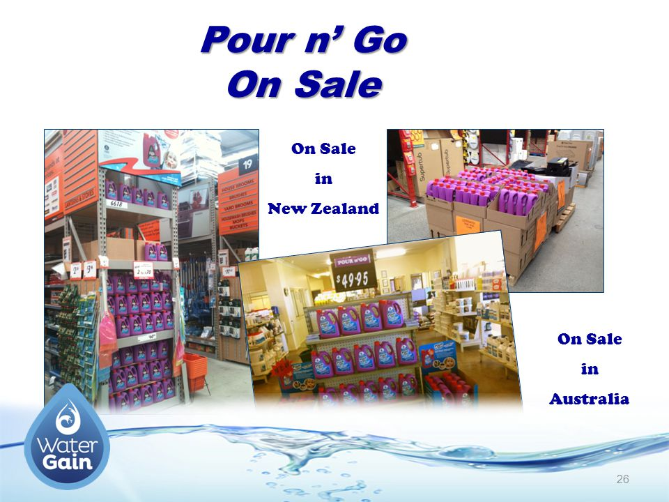 Pour n' Go On Sale On Sale in New Zealand On Sale in Australia