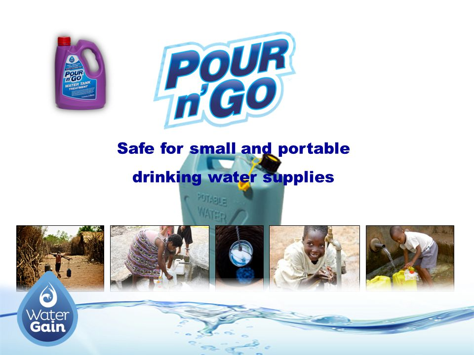 Safe for small and portable drinking water supplies