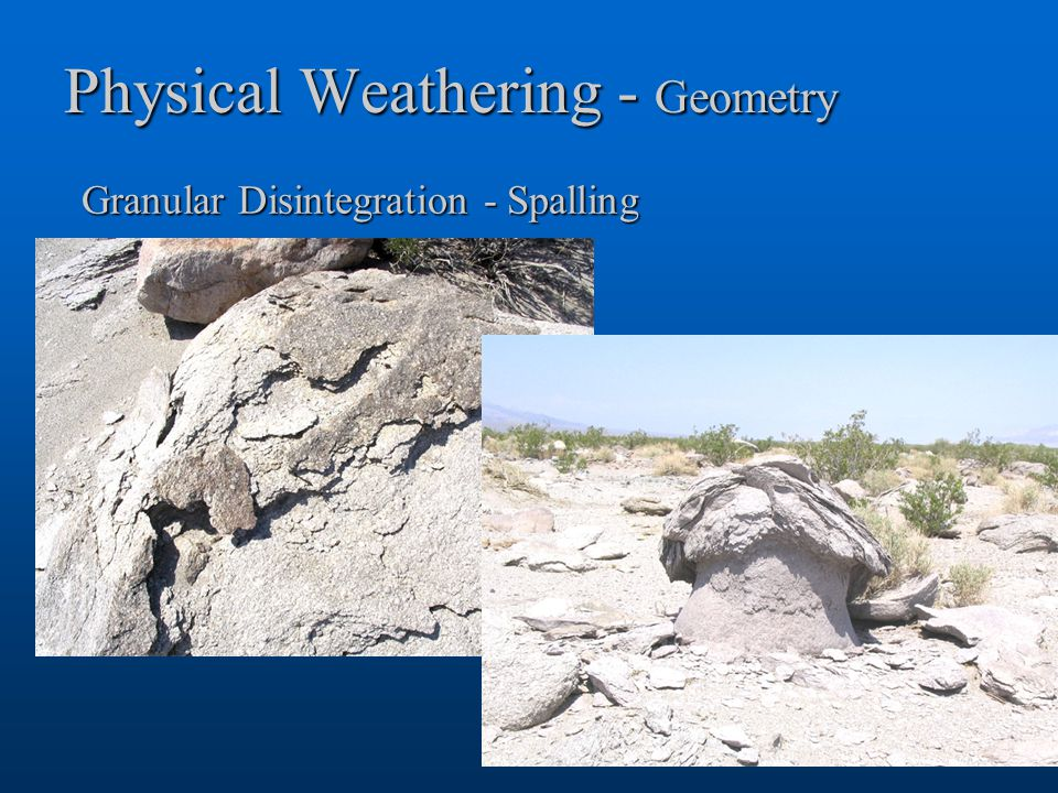 Physical Weathering - Geometry