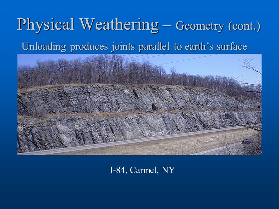 Physical Weathering – Geometry (cont.)
