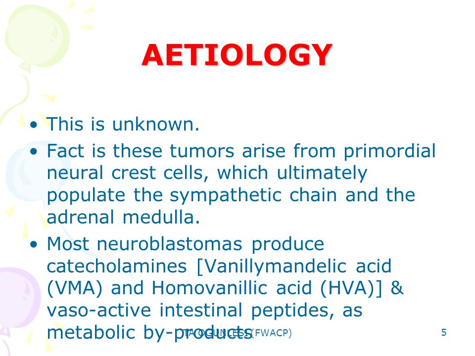 AETIOLOGY This is unknown.