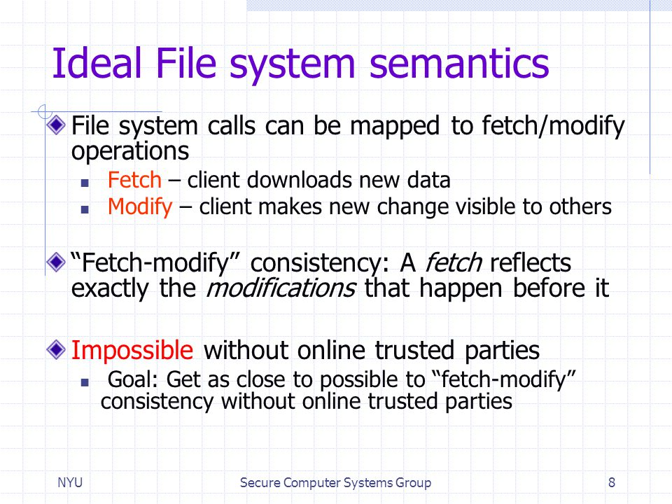 Ideal File system semantics