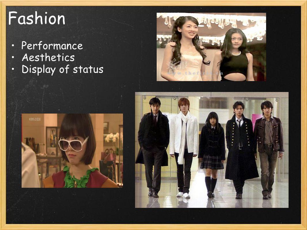 Fashion Performance Aesthetics Display of status