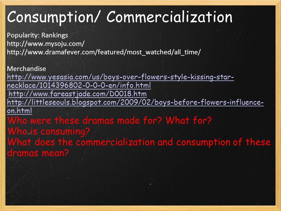 Consumption/ Commercialization