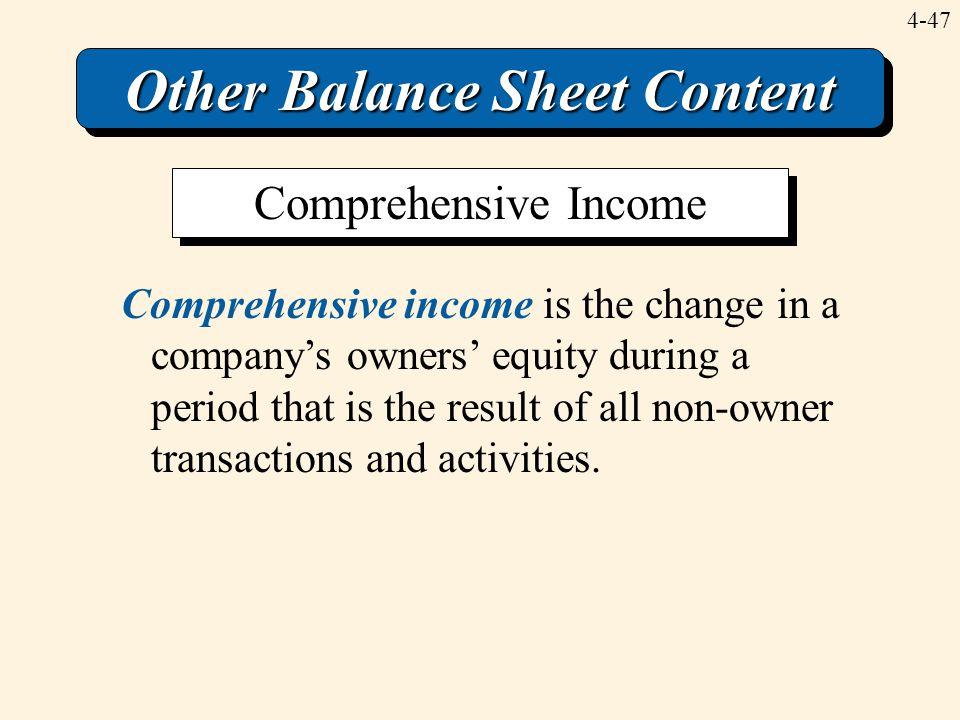 Other Balance Sheet Content