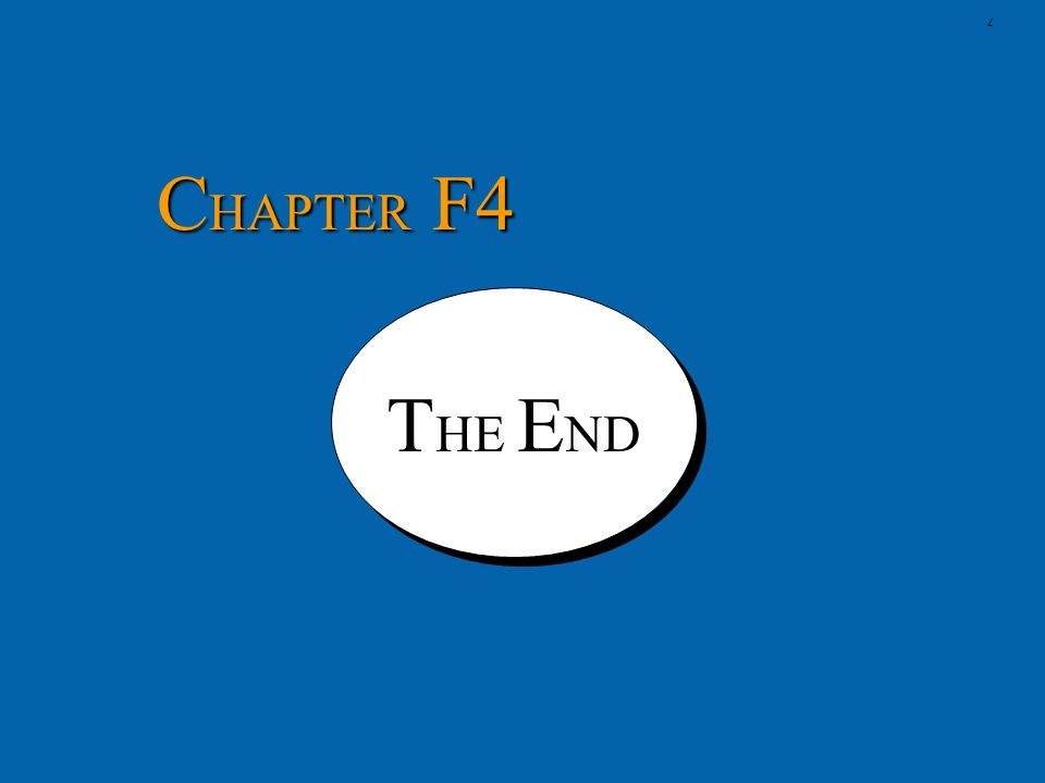 CHAPTER F4 THE END