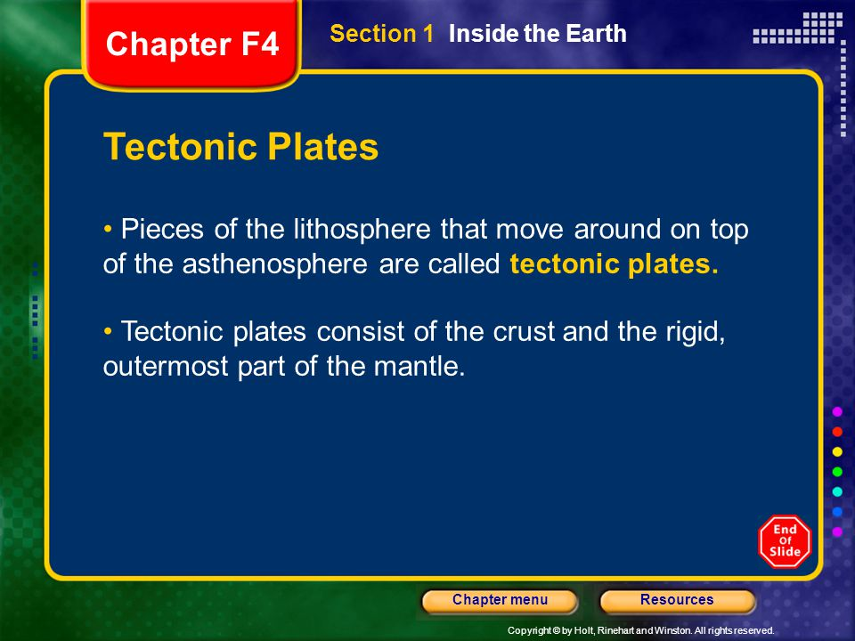 Tectonic Plates Chapter F4