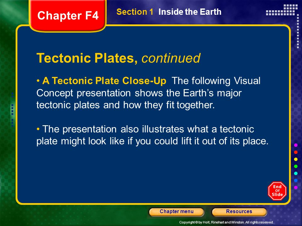 Tectonic Plates, continued
