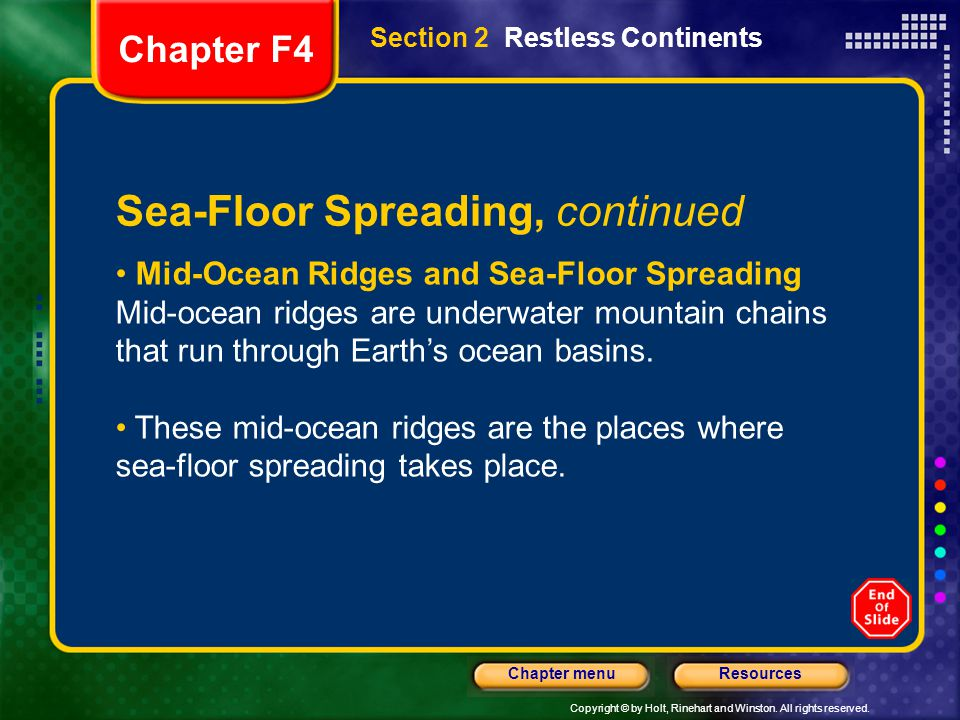 Sea-Floor Spreading, continued