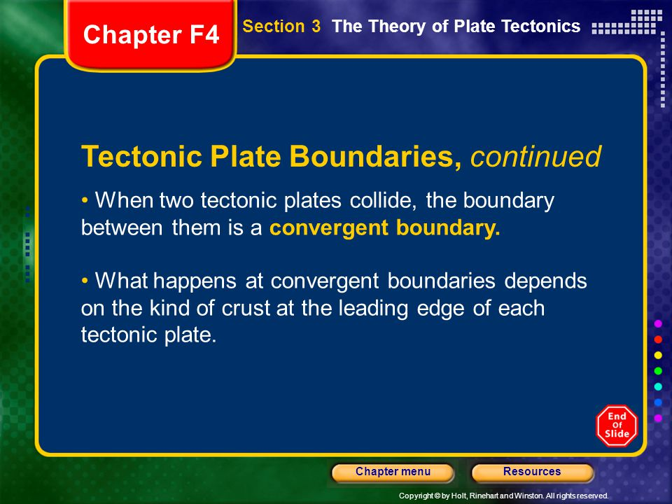 Tectonic Plate Boundaries, continued