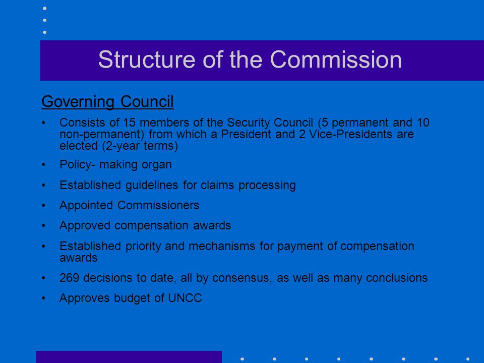 Structure of the Commission