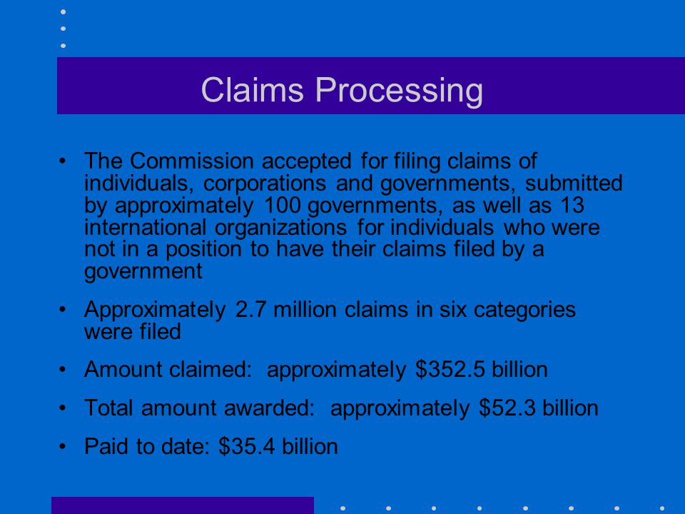 Claims Processing