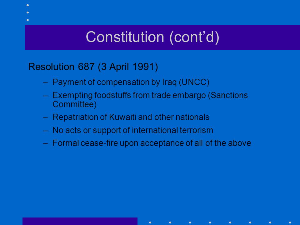 Constitution (cont'd)