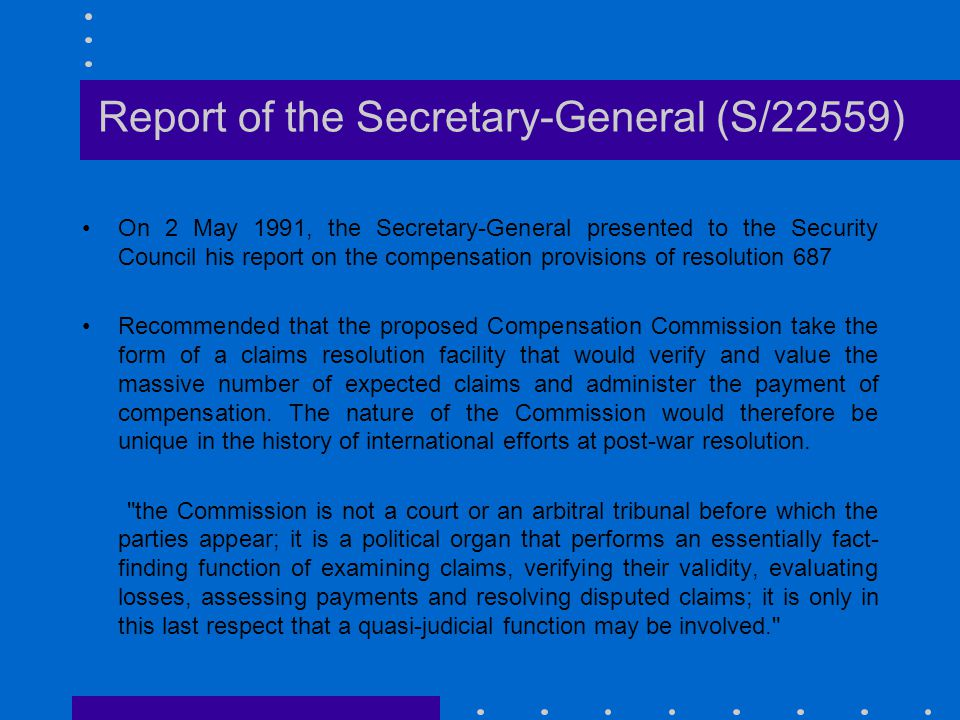 Report of the Secretary-General (S/22559)