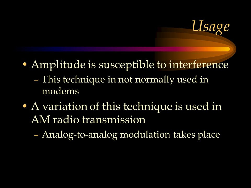 Usage Amplitude is susceptible to interference