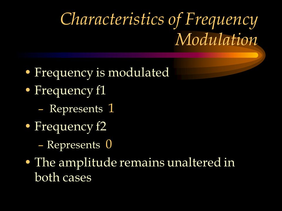 Characteristics of Frequency Modulation