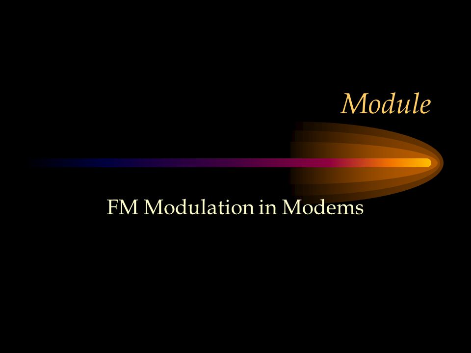 FM Modulation in Modems