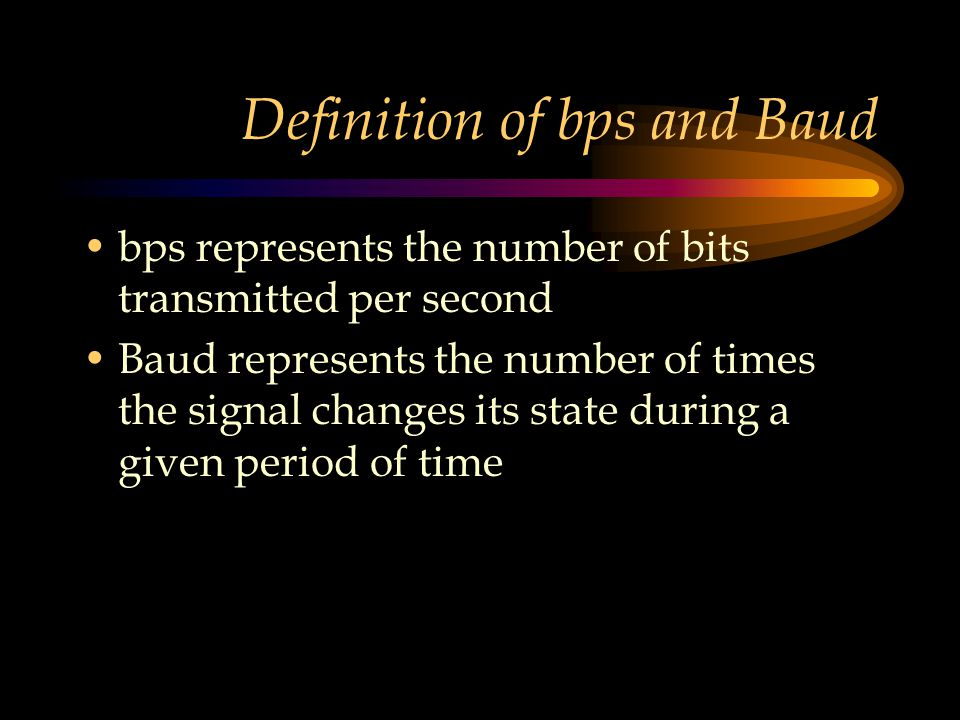 Definition of bps and Baud