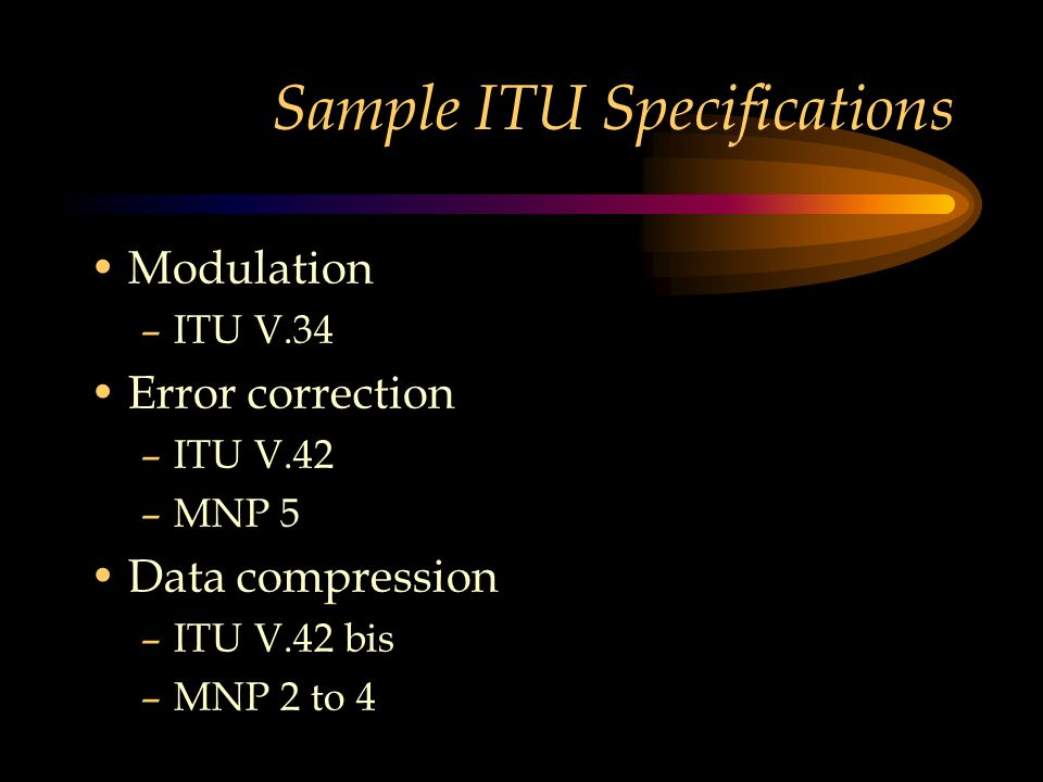 Sample ITU Specifications